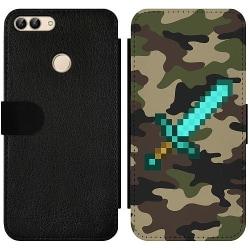 Huawei P Smart (2018) Wallet Slim Case Minecraft