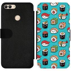 Huawei P Smart (2018) Wallet Slim Case Sushi