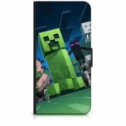 Apple iPhone X / XS Plånboksfodral MineCraft