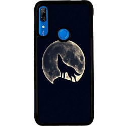 Huawei P Smart Z Soft Case (Svart) Howling Moon Wolf