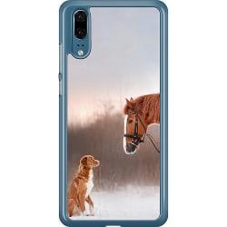 Huawei P20 Hard Case (Transparent) Häst & Hund