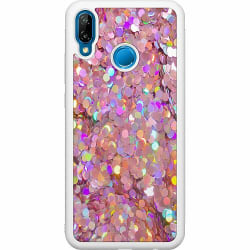 Huawei P20 Lite Soft Case (Vit) Glitter