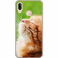 Huawei P20 Lite Thin Case Cat in the Sun