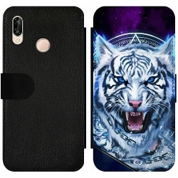 Huawei P20 Lite Wallet Slimcase Be Wary Of The White Tiger pt. 2
