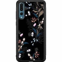 Huawei P20 Pro Soft Case (Svart) Blommor