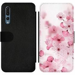 Huawei P20 Pro Wallet Slim Case Cherry Blossom