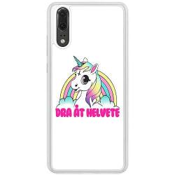 Huawei P20 Soft Case (Frostad) Unicorn Dra åt Helvete