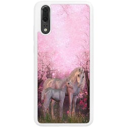 Huawei P20 Soft Case (Vit) Magic Unicorns