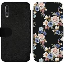 Huawei P20 Wallet Slim Case Floral