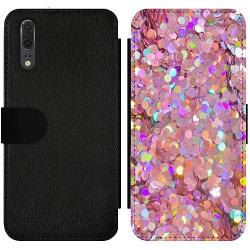 Huawei P20 Wallet Slim Case Glitter