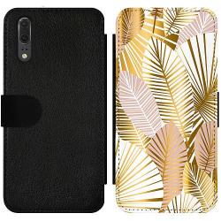 Huawei P20 Wallet Slim Case Guld
