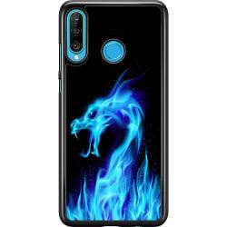 Huawei P30 Lite Hard Case (Svart) Fire Dragon Blue
