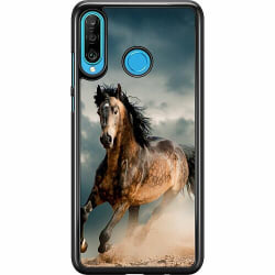 Huawei P30 Lite Hard Case (Svart) Häst
