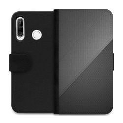Huawei P30 Lite Wallet Case Black Leather