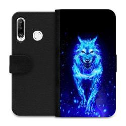 Huawei P30 Lite Wallet Case Fire Wolf