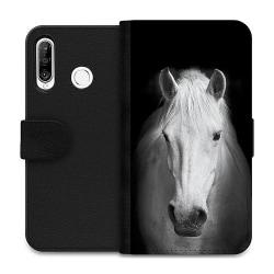 Huawei P30 Lite Wallet Case Vit Häst