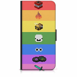 Samsung Galaxy A32 5G Plånboksfodral MineCraft Rainbow