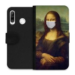 Huawei P30 Lite Wallet Case Mona Lisa Face Mask