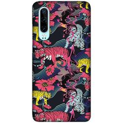 Huawei P30 LUX Mobilskal (Matt) Grumpy Tigers on Waves