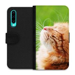 Huawei P30 Wallet Case Cat in the Sun