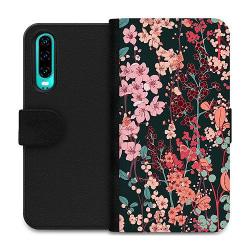 Huawei P30 Wallet Case Blommor