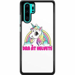 Huawei P30 Pro Hard Case (Svart) Unicorn Dra åt Helvete