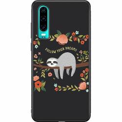 Huawei P30 Soft Case (Svart) Sloth of wisdom