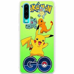 Huawei P30 Soft Case (Vit) Pokemon