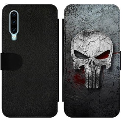 Huawei P30 Wallet Slim Case The Punisher