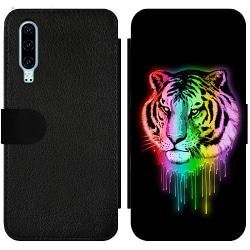 Huawei P30 Wallet Slim Case Neon Tiger