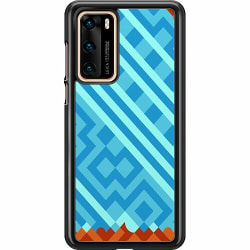 Huawei P40 Hard Case (Svart) Ancient Game Tile