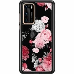 Huawei P40 Hard Case (Svart) Floral Bloom