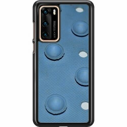 Huawei P40 Hard Case (Svart) Rubbery Blues