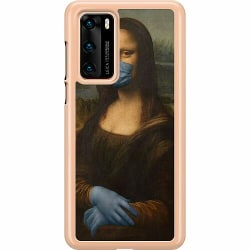 Huawei P40 Hard Case (Transparent) Mona Lisa Mask