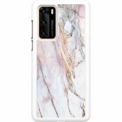 Huawei P40 Hard Case (Vit) Marmor