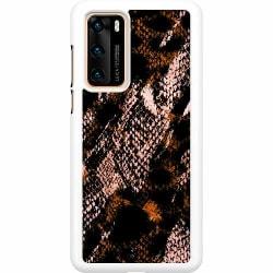 Huawei P40 Hard Case (Vit) Snakeskin B