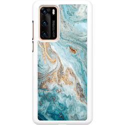 Huawei P40 Hard Case (Vit) Magic Marble