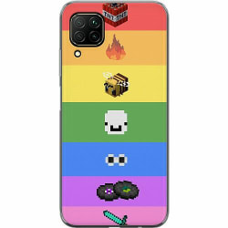 Huawei P40 Lite Mjukt skal - MineCraft Rainbow