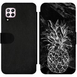 Huawei P40 Lite Wallet Slim Case Marmor Ananas