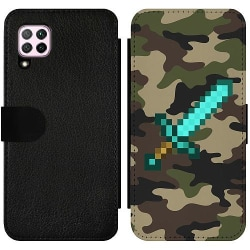 Huawei P40 Lite Wallet Slim Case Minecraft