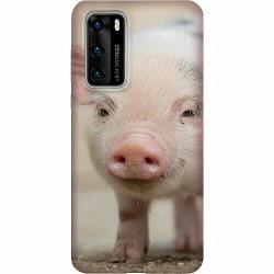 Huawei P40 LUX Mobilskal (Matt) Happy Pig
