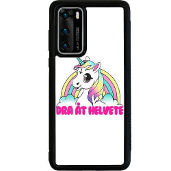 Huawei P40 Soft Case (Svart) Unicorn Dra åt Helvete