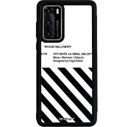Huawei P40 Soft Case (Svart) White Off