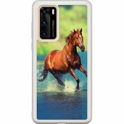 Huawei P40 Soft Case (Frostad) Häst / Horse