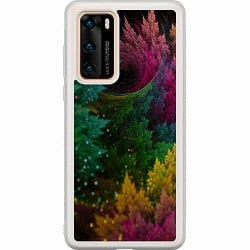 Huawei P40 Soft Case (Frostad) Pixel Forest