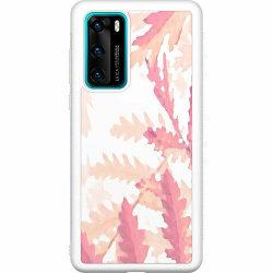 Huawei P40 Soft Case (Vit) Autumn Comes