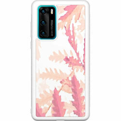 Huawei P40 Soft Case (Vit) Autumn Comes