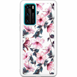 Huawei P40 Soft Case (Vit) Floral Spring