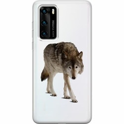 Huawei P40 Thin Case Wolf Companion