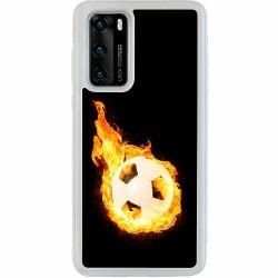 Huawei P40 Soft Case (Frostad) Fire Fotball